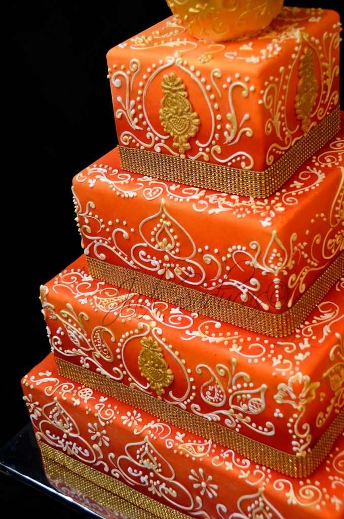 MEHNDI WEDDING CAKE